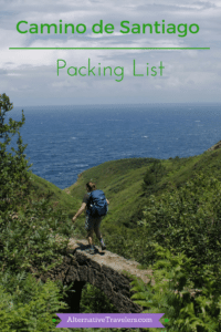 Camino de Santiago Packing List - What to Pack for the Camino de Santiago in Spain, especially focused on packing for the Camino del Norte. AlternativeTravelers.com