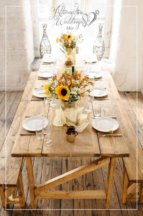 Rustic Country Kitchen Wedding