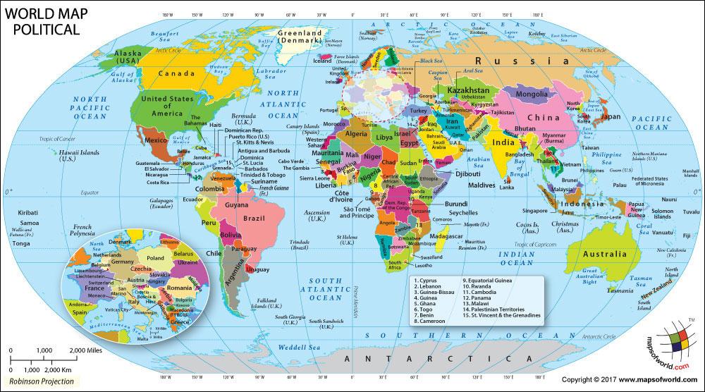 Resultado de imagen de political  map