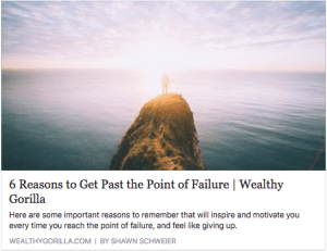 6 Reasons to Get Past the Point of Failure