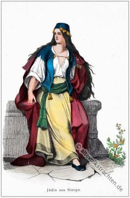 Türkei, Jüdin, Jüdische Frauentracht, Trachten, Osmanisches Reich, Kostüm, Kostümgeschichte, Modegeschichte