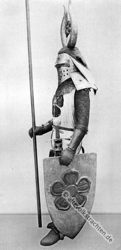 Mittelalter, Ritter, Ritterrüstung, Kettenpanzer,  Karl Gimbel, Ringelpanzer, Brünne, 13. Jahrhundert