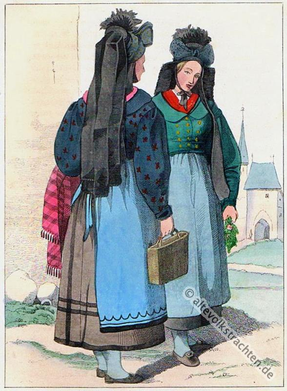 Thüringen, traditionelle Thüringer Trachten, Erfurt, Erfurter Trachten, historische Kostüme, Modegeschichte, Kostümgeschichte