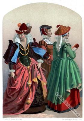 Renaissance Kostüme, Renaissance Kleider. Mode des 16. Jahrhunderts.