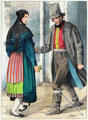 Bauerntrachten, Trachten, Sachsen-Anhalt, Volkstrachten, historische Kleidung