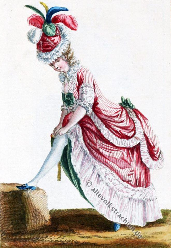Robe, polonaise, Rokoko, Modegeschichte, Kostümgeschichte, 18. Jahrhundert