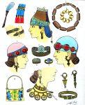 Juwelen, Schmuck. Assyrien, Mesopotamien.