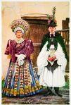 Hochzeitspaar aus Ungarn um 1920.