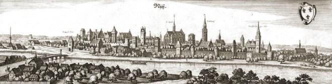 Neisse, Nysa, Schlesien, Polen, Matthäus Merian, Pejzaż, panoráma mÄ�sta