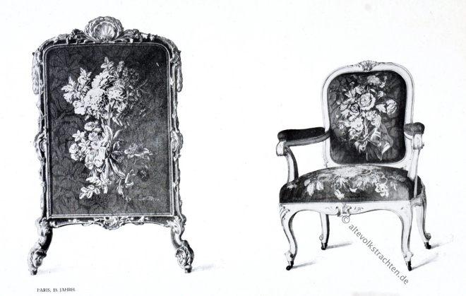 Gobelin, Barock, Ecran, Fauteuil, Kunsthistorie, Gobelinsammlung, Gobelins, Möbel, 18. Jahrhundert,