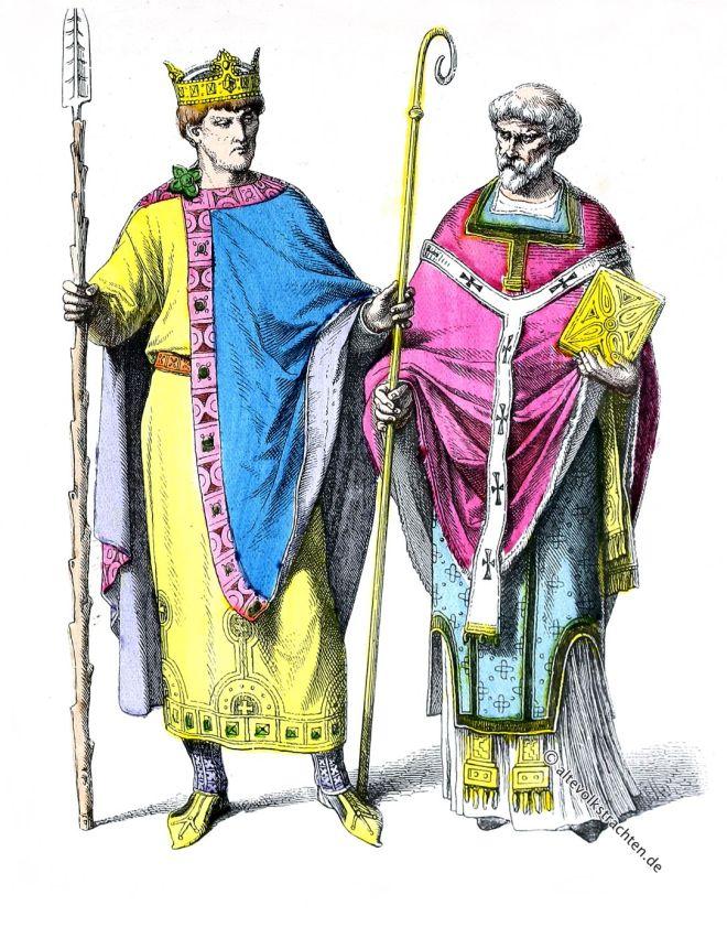 Kaiser Heinrich II. 10. u. 11. Jahrhundert. Byzantinische Kleidermode. Zur Geschichte der Kostüme.