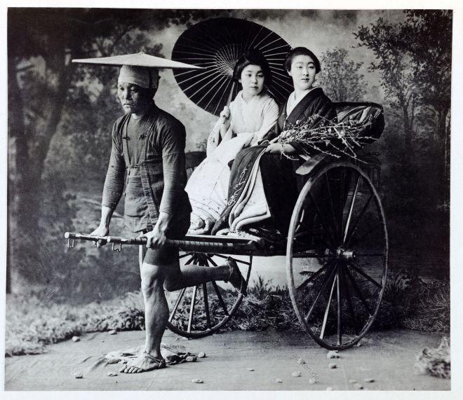 Kazuma Ogawa, Fotograf, Japan, Fotografie, Jinrikisha, Blumenausstellung, Kostüme