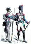 Grenadier u. Infanterie Soldat. Frankreich Ende des 18. Jh.