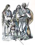 Kleidung der Germanen vom dritten bis vierten Jahrhundert.