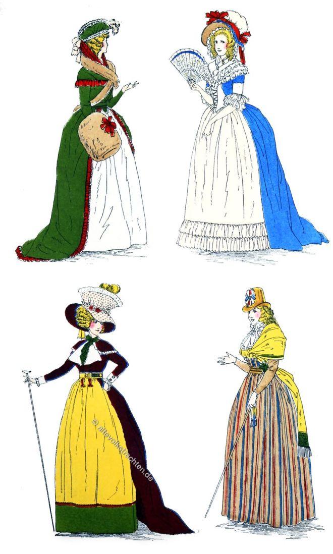 Mode, Empire, Klassizismus, Frankreich, Kostüme