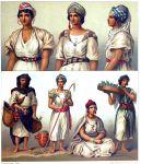 Algerien und Tunesien. Tracht der Kabylen, Mzabiten, Mauren.