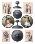 Holländische und niederrheinische Frauentracht um 1630