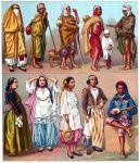 Algerische Volkstrachten. Berufsmässige Tänzerinnen, Mauren, Landleute.