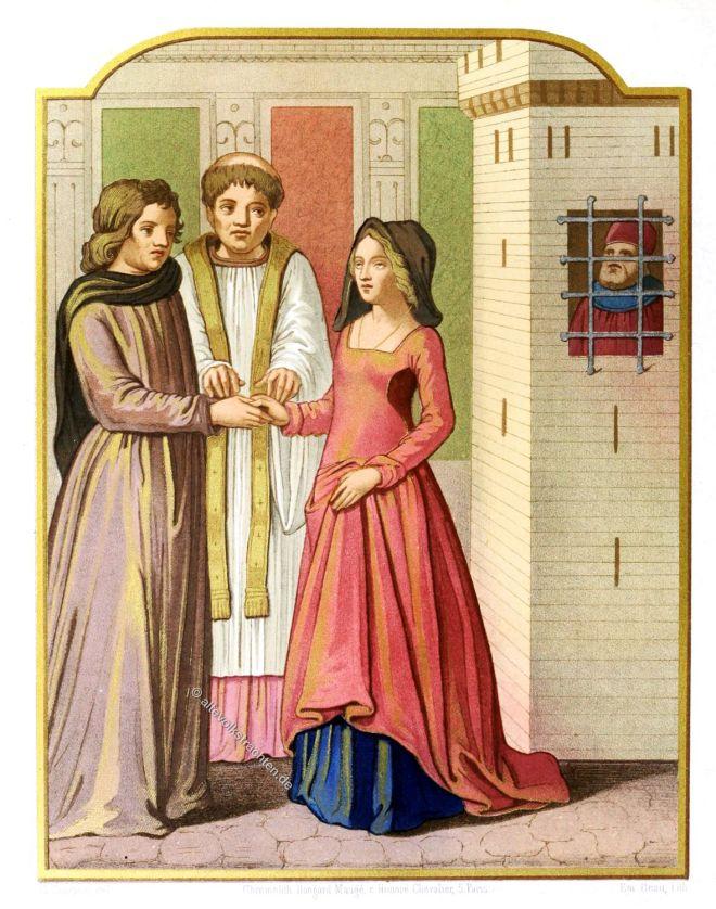Bigamie, Mittelalter, Bekleidung,