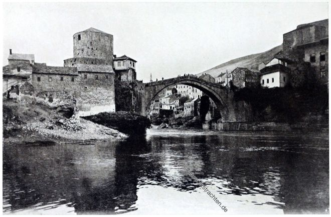 Stari most, Brücke, Mostar, Stadtansicht,
