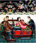 China. Die Kaiserin. Nebenfrau und Dienerin. Konkubinen.