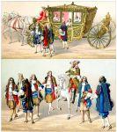 Die Karosse der Königin. Einzug Ludwig XIV. und Maria Theresia in Arras.