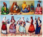 Persische Hausangestellte. Trachten und Gebräuche. Iran 19. Jh.