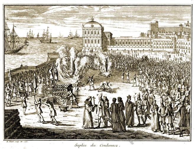 Inquisition,, Suplice des Condamnez, Verbrennung, Bernard Picart,