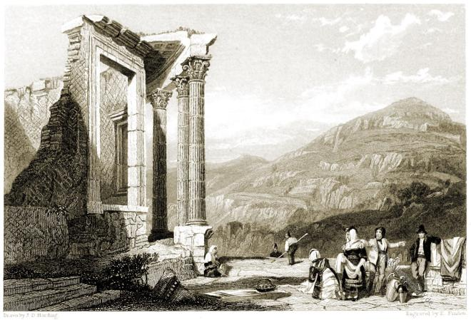 Italien, Tempel, Vesta, Tivoli, Lord Byron,