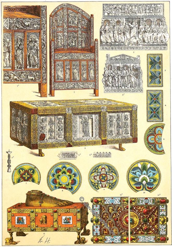 Byzanz, Ostrom, Kultur, Ornamente, Dekoration, Kunsthandwerk, Friedrich Hottenroth