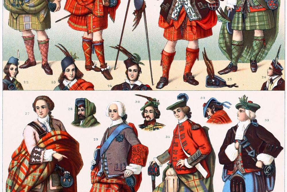 Schottland, Nationaltrachten, kilt, tartan, Plaid, clans, krieger,