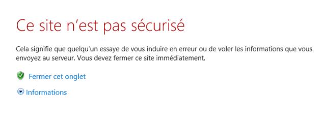 HTTPS, erreur de certificat