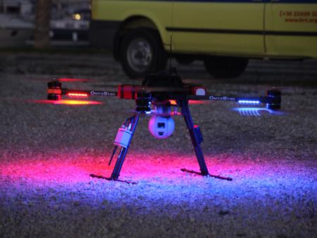 decollage drone avec vision nocturne pour le secours des migrants - Un drone pour secourir les migrants