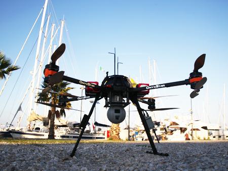 drone avant mission de secours - Un drone pour secourir les migrants