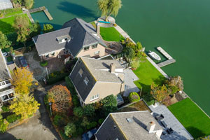 drone real estate market houses - Aerial photography with a drone for the real estate market