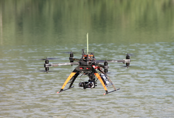Water survey by drone