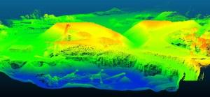 Résultat de relevé Lidar par drone