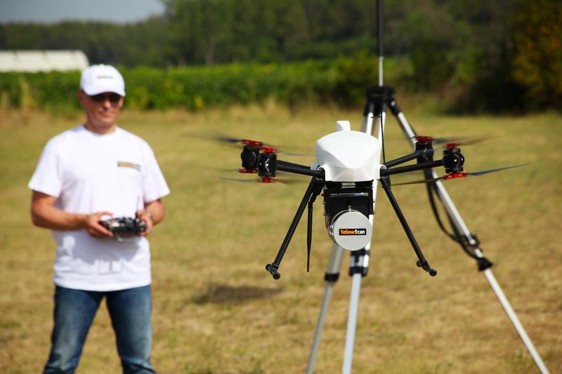 Sondage Lidar par drone avec l'OnyxStar XENA et le lidar YelloScan Surveyor