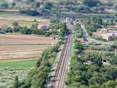 Railway: inspection and  surveillance by drone