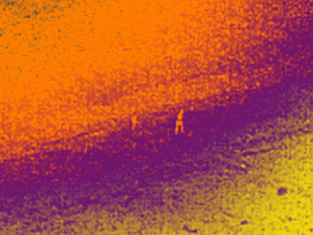 thermal view drone immigrants night vision - A drone to rescue immigrants