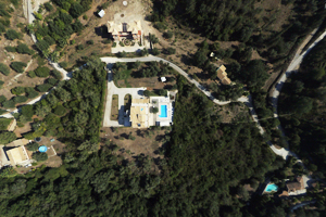 uav real estate drone image - Aerial photography with a drone for the real estate market