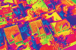 Urban drone thermography