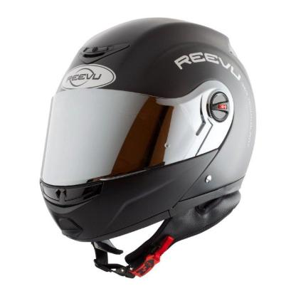Flip up helmet with quick clip construction