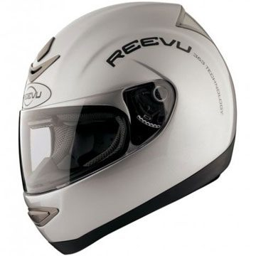 metallic silver hi viz fullface helmet