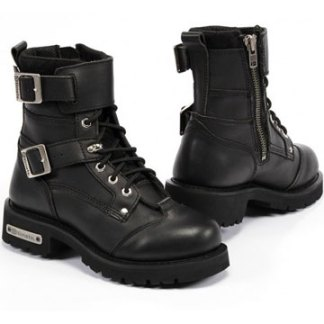 mens leather boots made tough for bikers