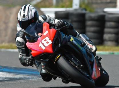 motorcycle racers wearing full face helmets