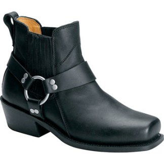 Mens Short Harness Leather Boot