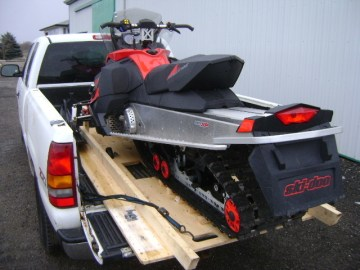 snowmobile lift and roll