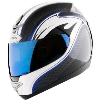 Reevu Motorcycle Helmet blue fullface