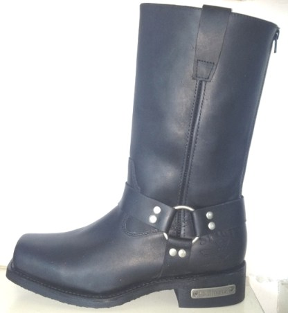 leather motorcycle boot